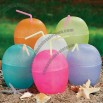 Coconut Cup with Hibiscus Flower Accent