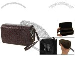 Coffee Color Textured Faux Leather Organizer Wallet for Women