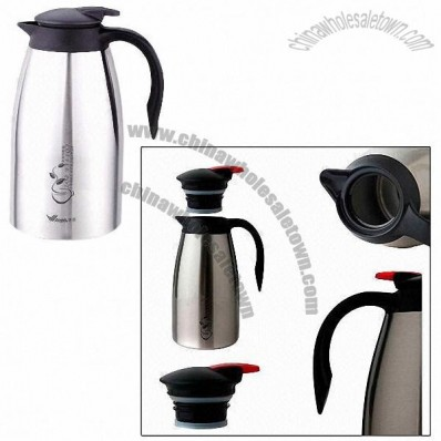 Coffee Pot, Made of Double Layer Stainless Steel