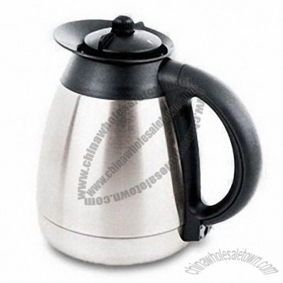 Coffee Pot with Handle, Made of Stainless Steel