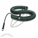 Coil Garden Hose with Chrome Fittings