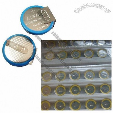 Coin cell with pin 3V nominal voltage and 220mAh nominal capacity