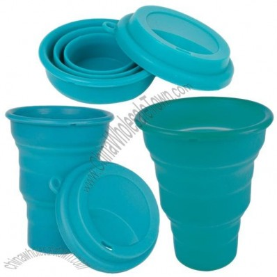 Collapsable Silicone Cup With Lid
