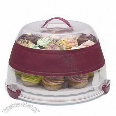 Collapsible Cupcake and Cake Carrier