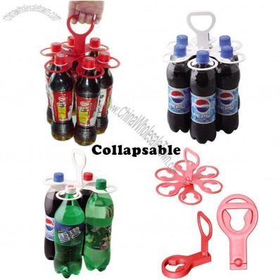 Collapsible Portable Beverage Bottle Carriers / Holder