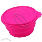 Collapsible Round Silicone Steamer With Lid