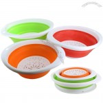 Collapsible Silicone Colander Set