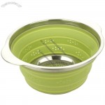 Collapsible Silicone Colander with Stainless Steel Rim