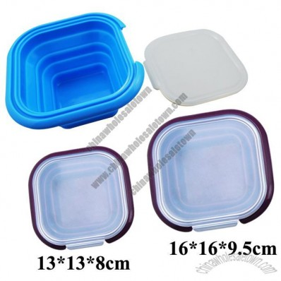 Collapsible Silicone Lunch Box, Silicone Food Container