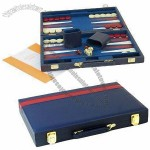 Collectible Table Game Set, Leather Backgammon Case