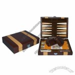 Collectible Table Game Set with Leather Backgammon Case