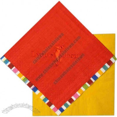 Color 3-Ply Beverage Napkin With Pattern