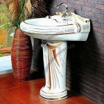 Color Ceramic Wash Sink with Elegant Design