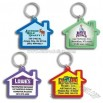 Color Dome House-Shaped Keychain