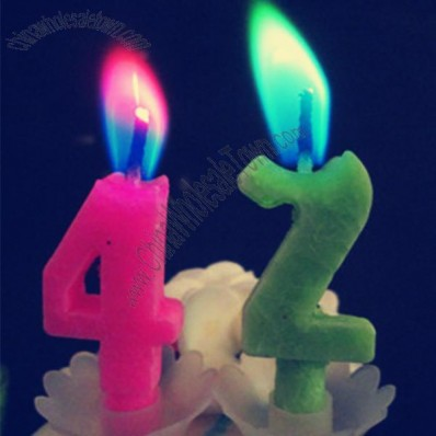 Color Flame Number Birthday Candle