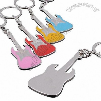 Color Guitar Keychain
