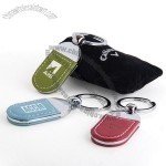 Color Leather Key Tag