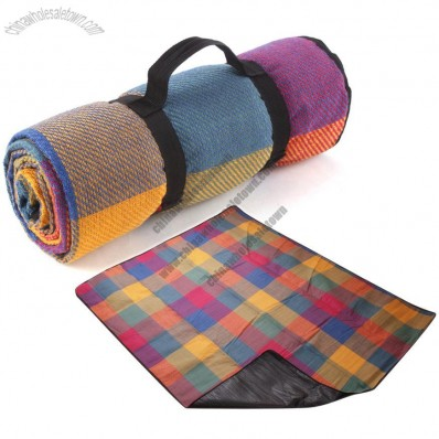 Color Plaid Picnic Mat