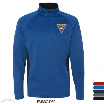 Colorblocked Men's Performance Quarter Zip Jackets