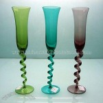 Colored Champagne Glass