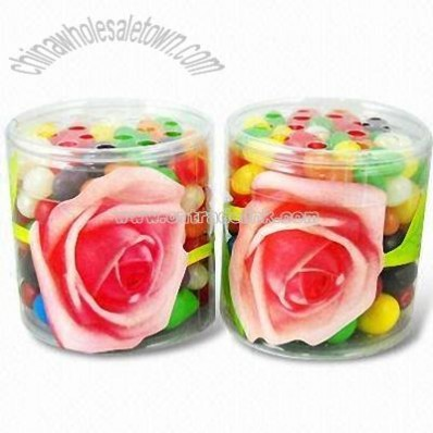 Colored Natural Beads Air Freshener in Clear Printed PVC Box