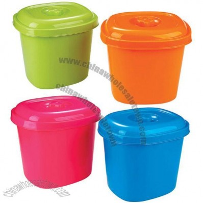 Colored Plastic Rice Buckets
