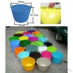 Colorful 25L Collect Buckets, Flexible Storage Tubs Buckets