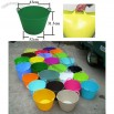 Colorful 35L Collect Buckets, Flexible Storage Tubs Buckets