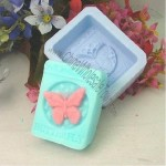 Colorful Butterfly Handmade Soap Molds Biscuit Mold Square Cake Mold