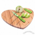 Colorful Design Heart-shaped Cutting Board with Knife
