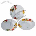Colorful Fine Porcelain Pasta Plates with Decal, Round Spaghetti