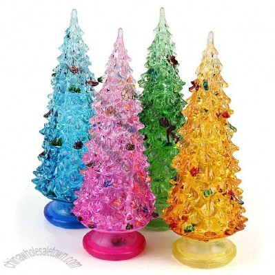Colorful Flashing Lights Transparent Acrylic Christmas Tree