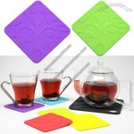 Colorful Floral Silicone Coasters