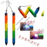Colorful Folding Twister Pen Light with 3 LED