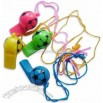 Colorful Football Whistles