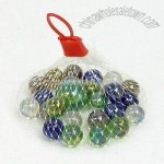 Colorful Glass Marbles in Durable Mesh Bag