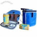 Colorful Insulated 4 Can Cooler Bag with Velcro Strap