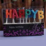 Colorful Letter Candles