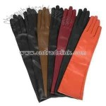 Colorful Long Leather Gloves
