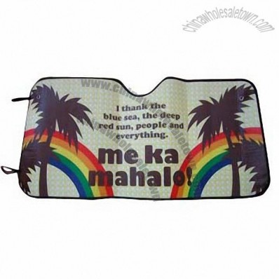 Colorful Printing Foam Front Sun Shade
