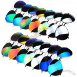 Colorful Reflective Coating Fashion Sunglasses