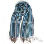 Colorful Stripe style Jacquard Scarf