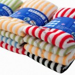 Colorful Striped Dish Cloth/Hand Towel, Super Absorbent