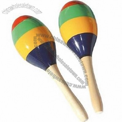 Colorful Wooden Maracas
