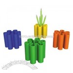 Colorful flower shaped pen holder