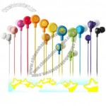 Colorful smiling fruit design wired earbud earphones and headphones for computer,mobile phone,mp4,mp3
