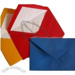 Colorful tissue lined envelopes