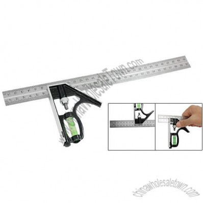 Combination Angle Square Finder Level Metric Ruler
