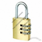Combination Padlock, Made of Brass