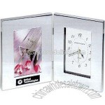 Combination clock and photo frame